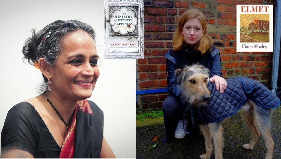 重量級作家阿蘭達蒂.洛伊(左,取自wiki)與新秀作家Fiona Mozley(圖片取自官網)同時名列今年曼布克獎長名單。