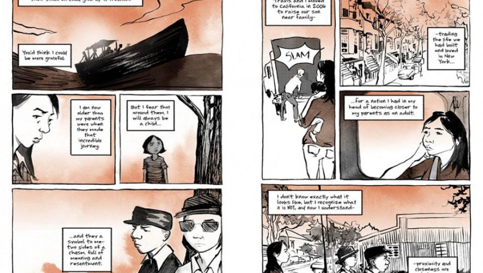越裔Thi Bui首部作品The Best We Could Do描述全家逃亡到美國經歷的難民困境。(圖片取自google book)