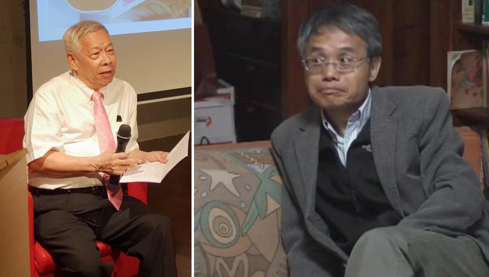 譯者林添貴(左)及彭淮棟(擷自youtube)