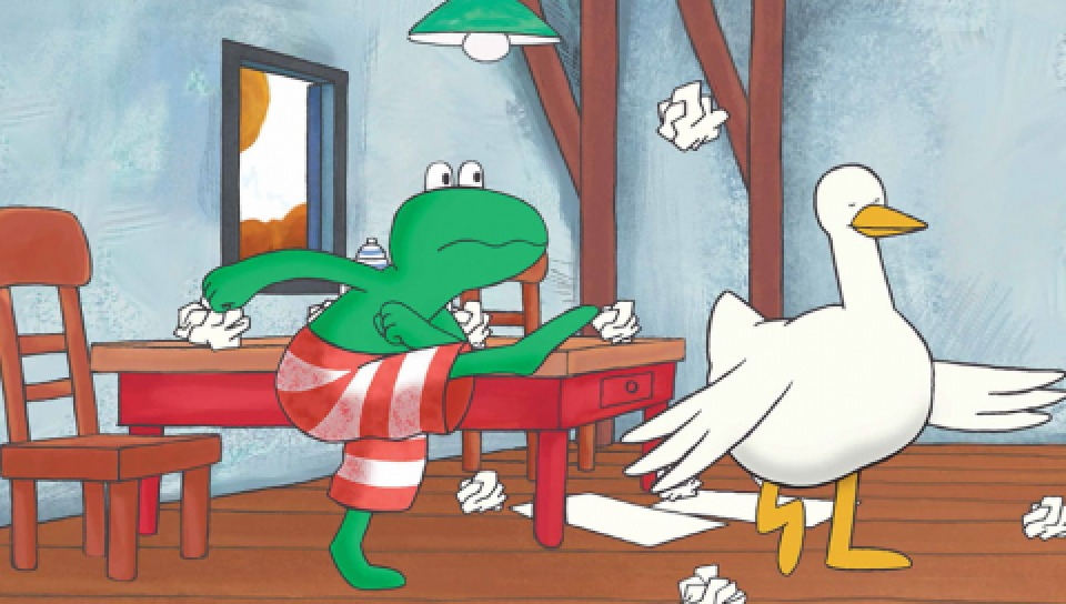 圖像出自《青蛙等不及》(青林國際出版)(青林國際提供)