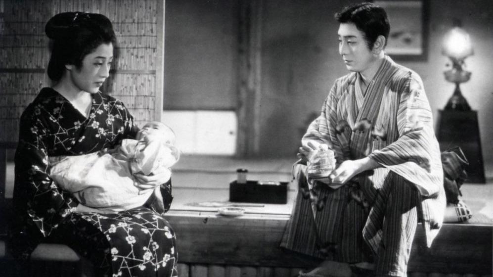 改編自林芙美子原著,由成瀨已喜男導演的電影《晚菊》劇照。