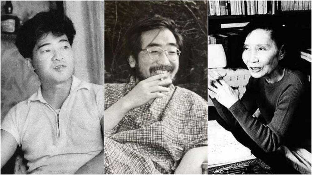 左起:安部公房、後藤明生及林京子(取自twitter、wiki及日本図書センター)