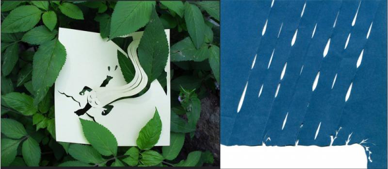 古國萱的剪紙作品蘊涵濃厚詩意。
