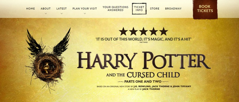 《哈利波特與被詛咒的孩子》舞台劇備受矚目(圖片取自官網)