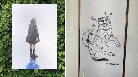 伊勢英子原畫展在高雄展出。(灰灰基地提供)