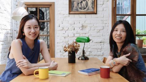 詩生活店主 陸穎魚(左)與浮光書店店主 陳正菁(右)